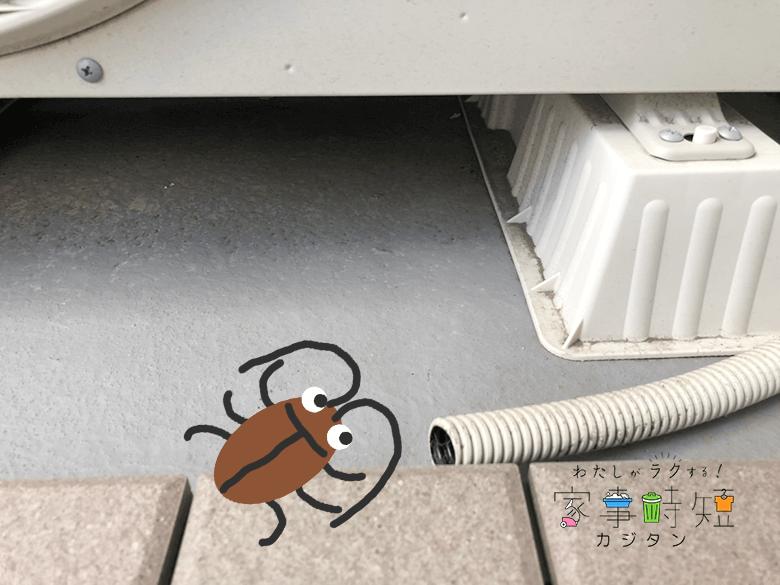 ゴキブリと室外機ドレンホース