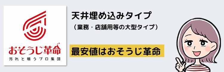 天井埋め込みタイプ(業務・店舗用等の大型タイプ)