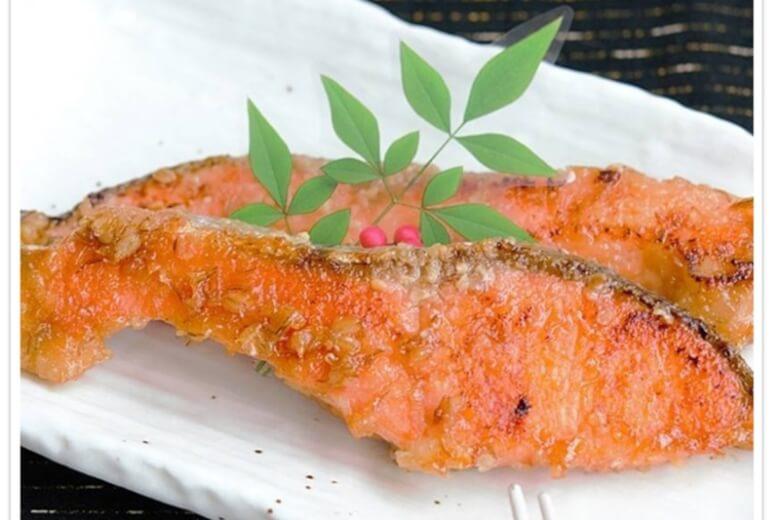鮭の味噌照り焼き