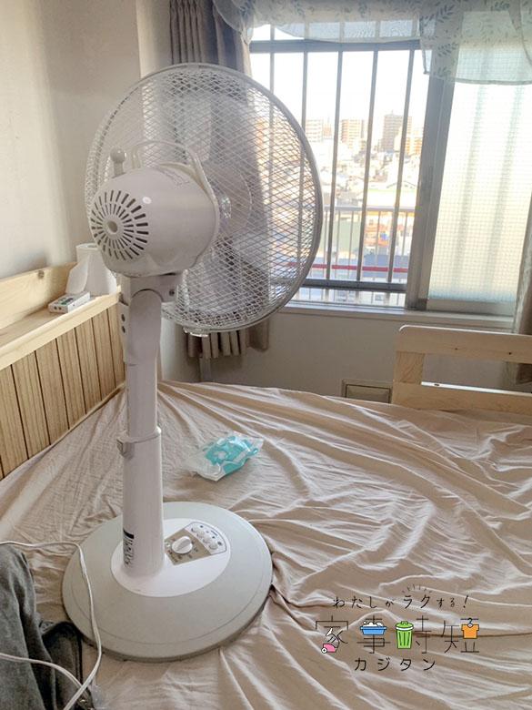 バルサン使用後の扇風機画像