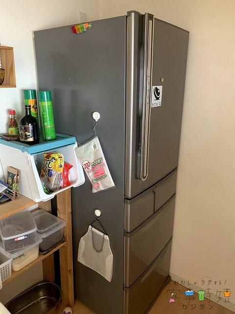 ダスキンの冷蔵庫クリーニング 清掃前 冷蔵庫