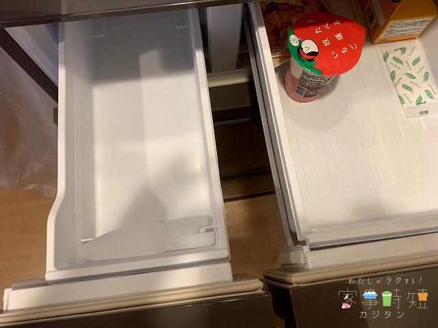 ダスキンの冷蔵庫クリーニング 製氷室 清掃後