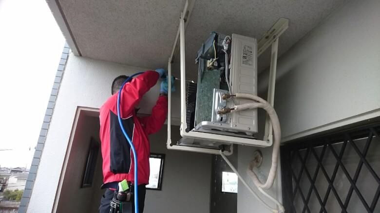 エアコン室外機の洗浄