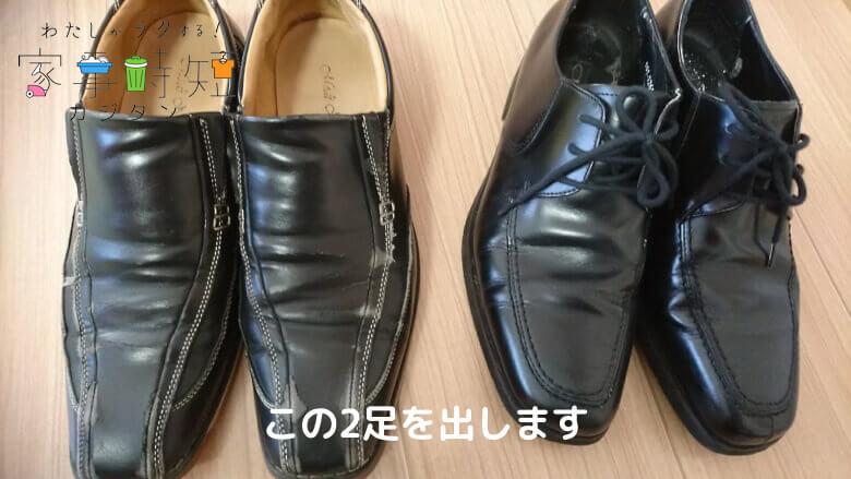 発送する靴はこの2足