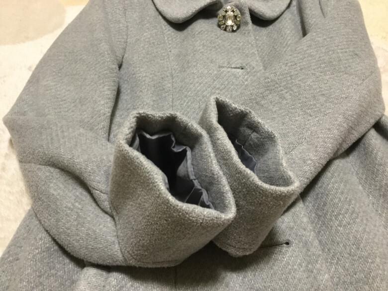 リネットでクリーニングしたコート
