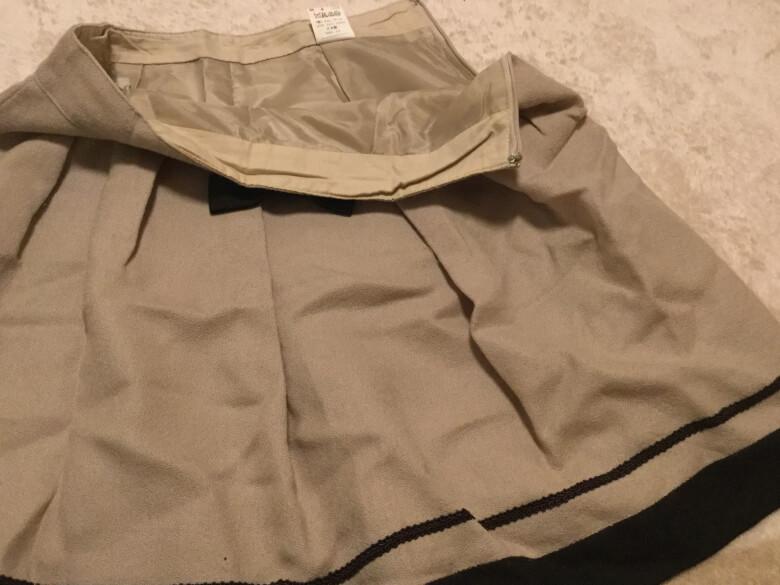 リネットでスカートをクリーニング