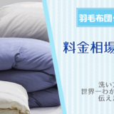 羽毛布団クリーニングの料金相場と頻度!洗い方を世界一わかりやすく伝えます