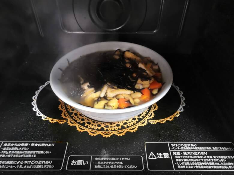 電子レンジで煮物