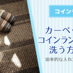 (失敗しない)カーペットやラグ・絨毯をコインランドリーで洗う方法!効率的な入れ方と出し方!