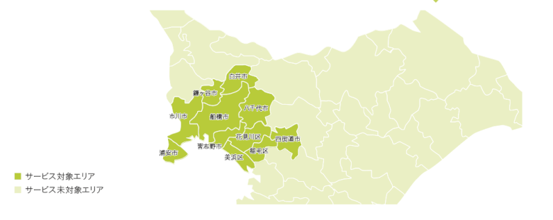 千葉県でローソンフレッシュピックが利用できるエリア