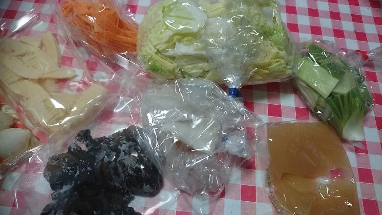 海鮮八宝菜の内容