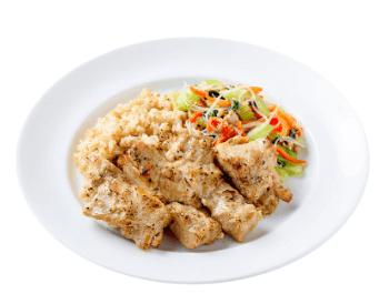 マッスル鶏肉の生姜焼き