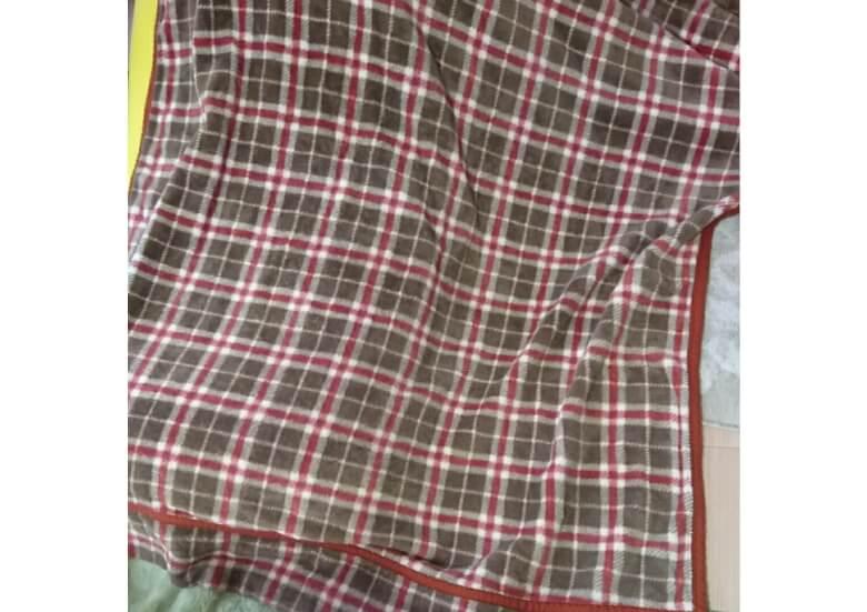 クリーニング前の毛布