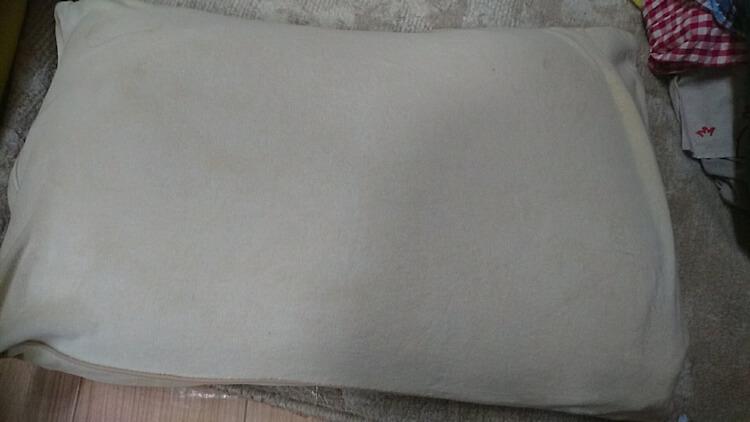 クリーニング後の枕