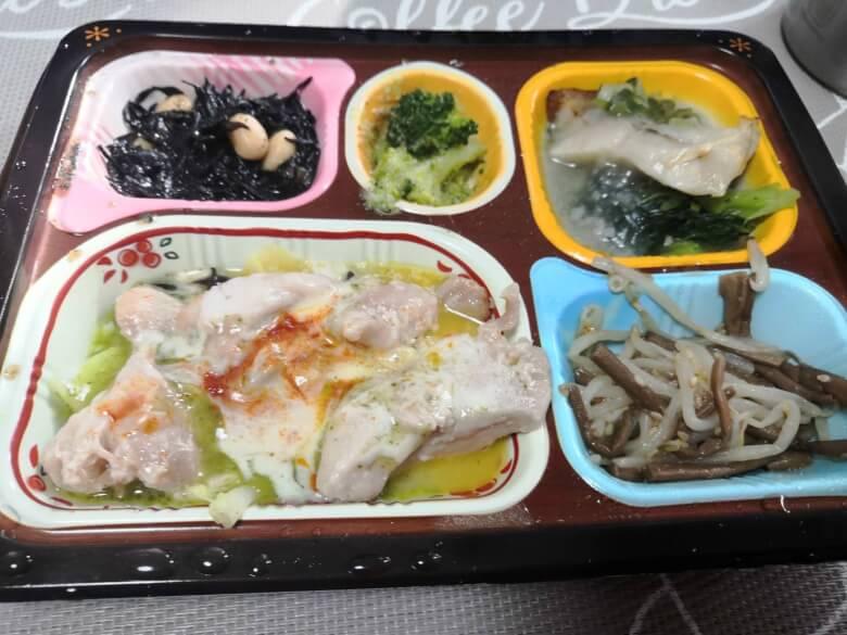 食宅便・バジルチキンと赤魚のネギソース