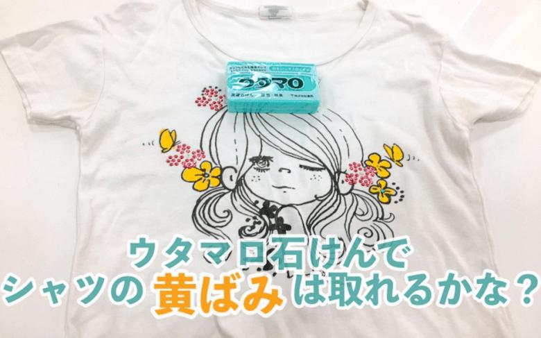 ウタマロ石鹸でTシャツを洗う