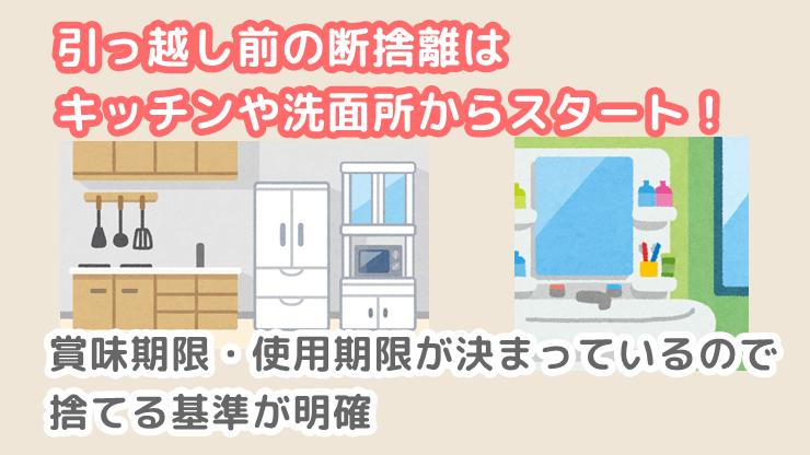 引っ越し前の断捨離はキッチン・洗面所から始める