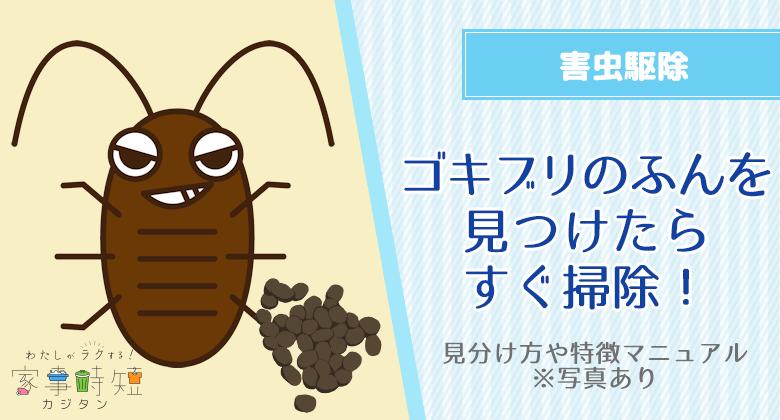 (写真)ゴキブリのふんを見つけたらすぐ掃除!見分け方や特徴マニュアル