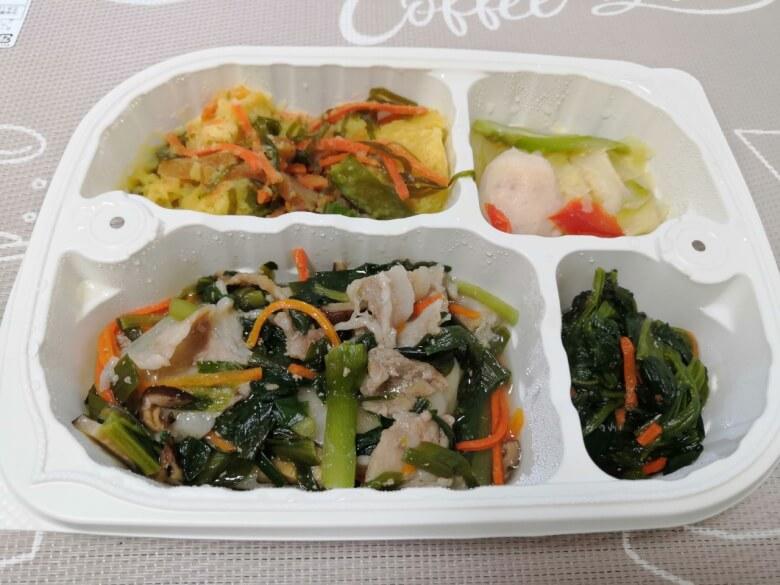 4日目:ワンタンの野菜あんかけ弁当
