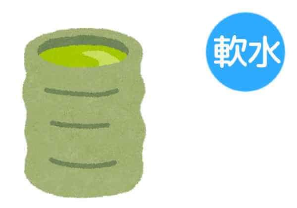 緑茶には軟水