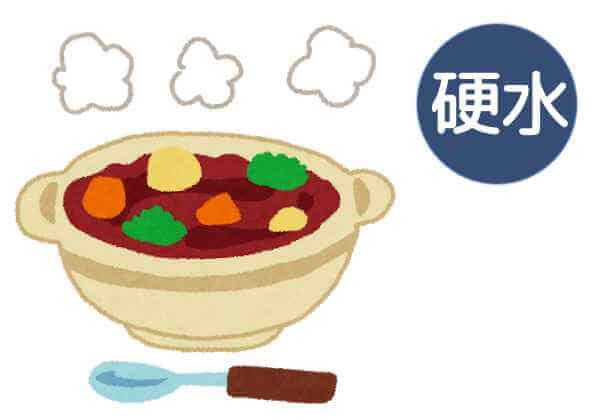 肉メインの煮込み料理にも硬水