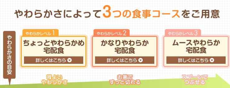 て3つの食事コース
