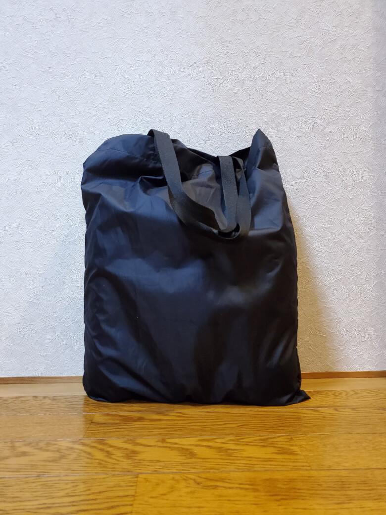 買い物バッグA3に2Lのペットボトルを入れてみました