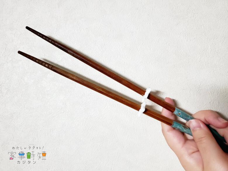 セリア シリコーン菜箸スタンド 装着