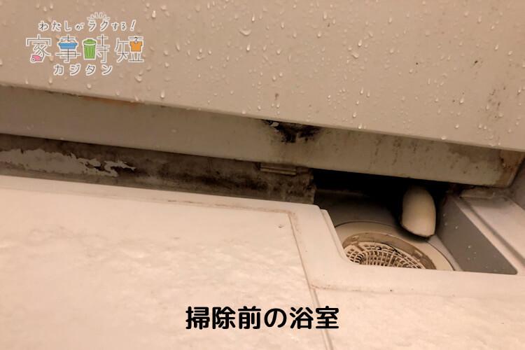 掃除前の浴室
